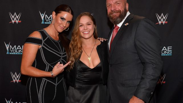 Triple H Ronda Rousey Stephanie McMahon WWE Mae Young Classic