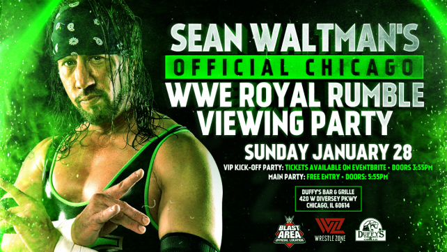 Sean Waltman's Official Chicago Royal Rumble Party, One Week Away; Limited VIP Kick-Off Party Tix Remaining