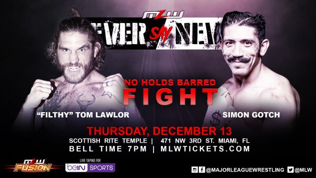 No Rope, No Holds Barred Match Signed For MLW's Miami Debut; Updated Card