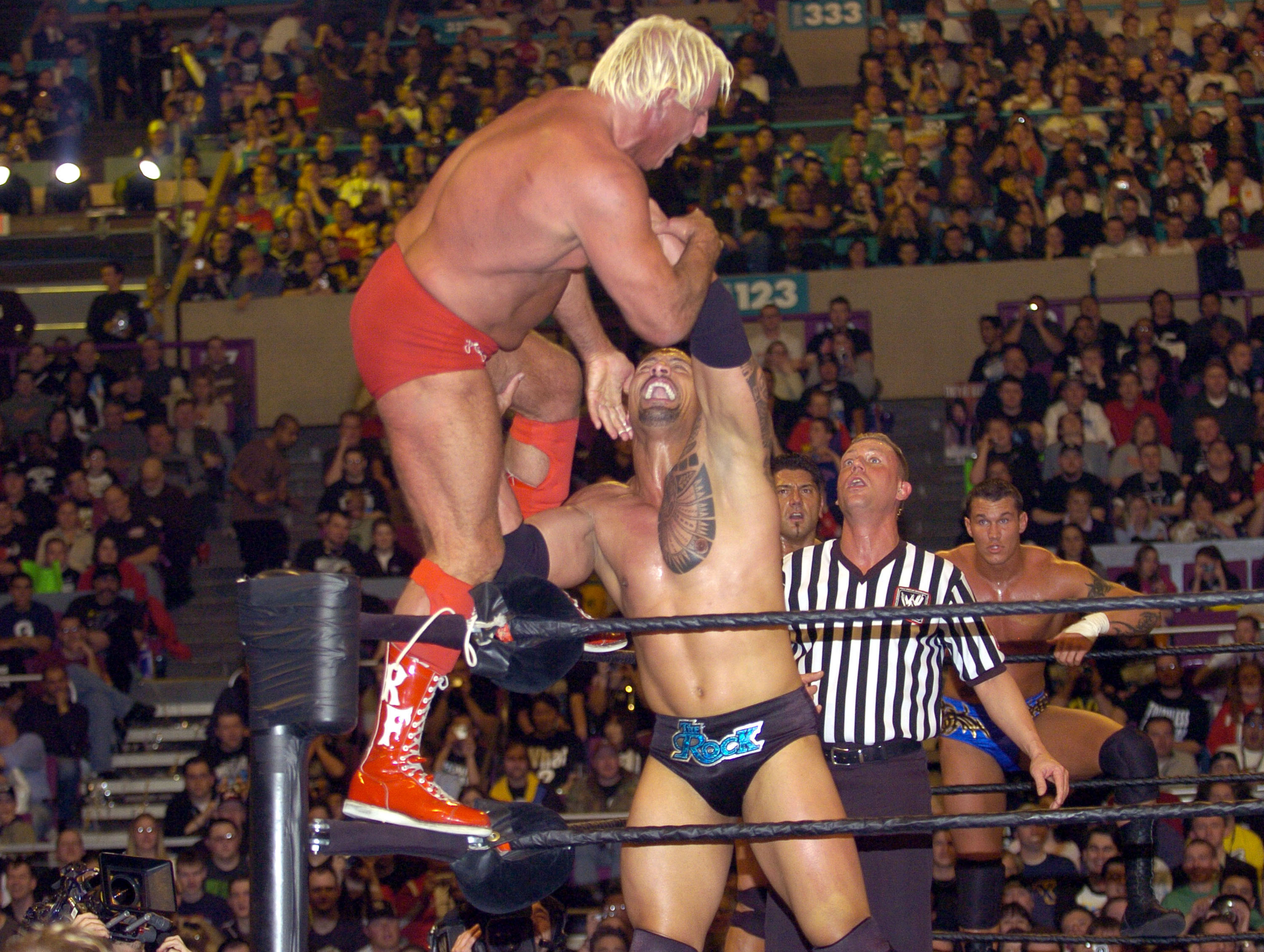 Ric Flair vs The Rock