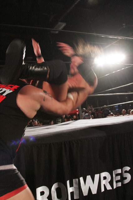 Powerbomb to the Apron